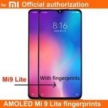 Новый AMOLED LCD отпечатки пальцев для XIAOMI Mi cc9 / MI 9 LITE, жк дисплей, сенсорный экран, дигитайзер в сборе, замена MI9LITE