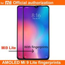 XIAOMI Mi cc9 / MI 9 LITE LCD 디스플레이 터치 스크린 디지타이저 어셈블리 교체 용 새로운 AMOLED LCD 지문 MI9LITE