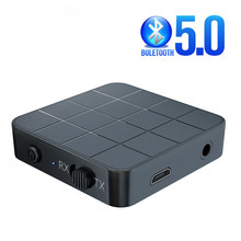 Bluetooth 5.0オーディオレシーバートランスミッターaux rca 3.5ミリメートル3.5ジャックusb音楽ステレオワイヤレスアダプタドングル車テレビpcスピーカー