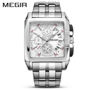 Image 1 - MEGIR Original Luxury Men Watch Stainless Steel Mens Quartz Wrist Watches Business Big Dial Wristwatches Relogio Masculino 2018