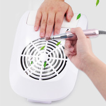 60W Nail Dust Suction Collector Vacuum Cleaner Big Power with 2 Dust Bags Nail Art Equipment Nail Salon Tools Nail Manicure Tool 30w nail suction dust collector with 3 fan and 2 bags nail vacuum cleaner manicure tools hand rest design nail art equipment hwc