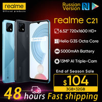 """realme C21 Russian Version Smartphone Helio G35 Octa Core 3GB 32GB 6.5""""display 5000mAh Large battery 47 Days Standby 3-Card Slot 1"""