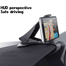 """Universal Clip Fold 4.0"""" to 6.5"""" Mobile Phone ABS Clamp Dash"""