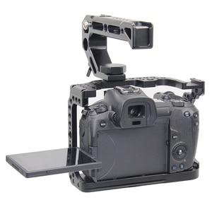 Image 3 - FFYY カメラケージキヤノン Eos R とコールドシューマウント穴マジックアームマイク添付