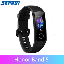 Originale Honor fascia 5 banda intelligente di ossigeno nel sangue Huawe honor smart watch frequenza cardiaca fitness sonno di nuoto sport tracker
