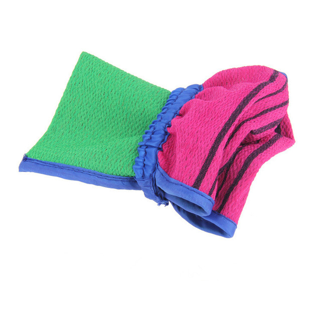 1 PCS Bath towel artifact Shower Spa Two-sided Bath Glove Body Cleaning Scrub Mitt Rub Dead Skin Removal 1