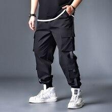 Harem-Pants XXXXL Joggers Casual-Trousers Zipper Men Ribbons Hip-Hop 7XL 5XL 6XL