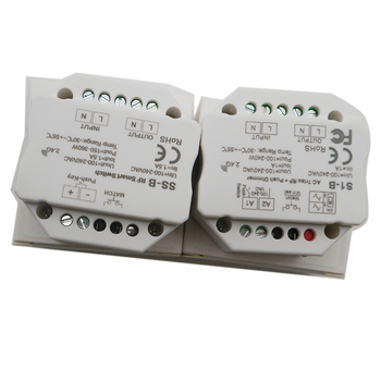 цена на Wholesale S1-B SS-B AC100-240V RF Smart Switch Output 100-240VAC 1.5A 360W RF smart switch with relay output led controller