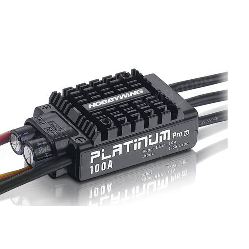 Hobbywing Platinum Pro V3 100A Opto HV  ESC Work Under 5S-12S LiPo 480-550 Class Heli 3D 70 Class Fixed-wing Airplane
