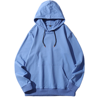 Spring Autumn Men Hoodie Solid Cotton Colorful Long Sleeve Sweatshirts Plus Size Pullover Hoodies Customized Logo
