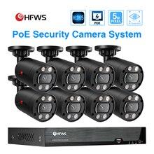 HFWS cctv camera securi POE 5MP NVR Kit CCTV Security System Two-way Audio AI IP Camera  Video Surveillance Camera KIT