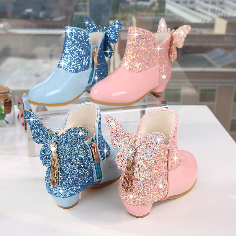 botas de couro inverno para meninas 01