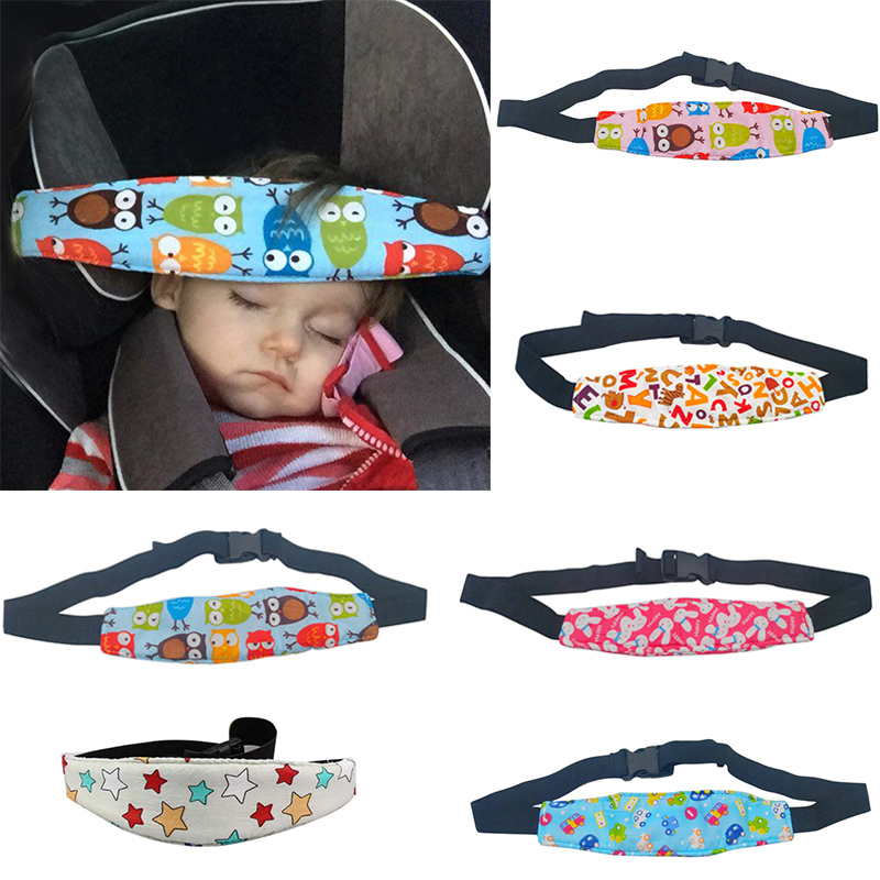 Infant Baby Car Seat Head Support Children Belt Fastening Adjustable Playpens Sleep Positioner Pillows Toddler Aid Fixed Strap