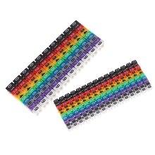 150 шт. Кабельные маркеры цветные c-типа маркер номер бирка этикетка для 2-3 мм провода