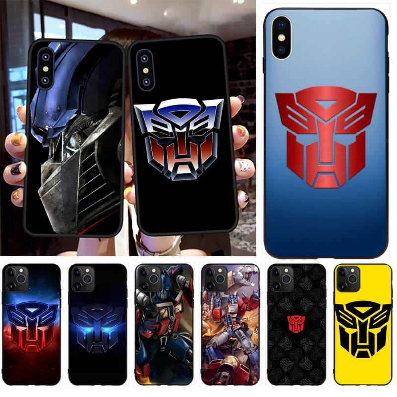 HPCHCJHM Hot Transformers Autobot Logo Phone Case Cover for iPhone 11 pro XS MAX 8 7 6 6S Plus X 5S SE 2020 XR case