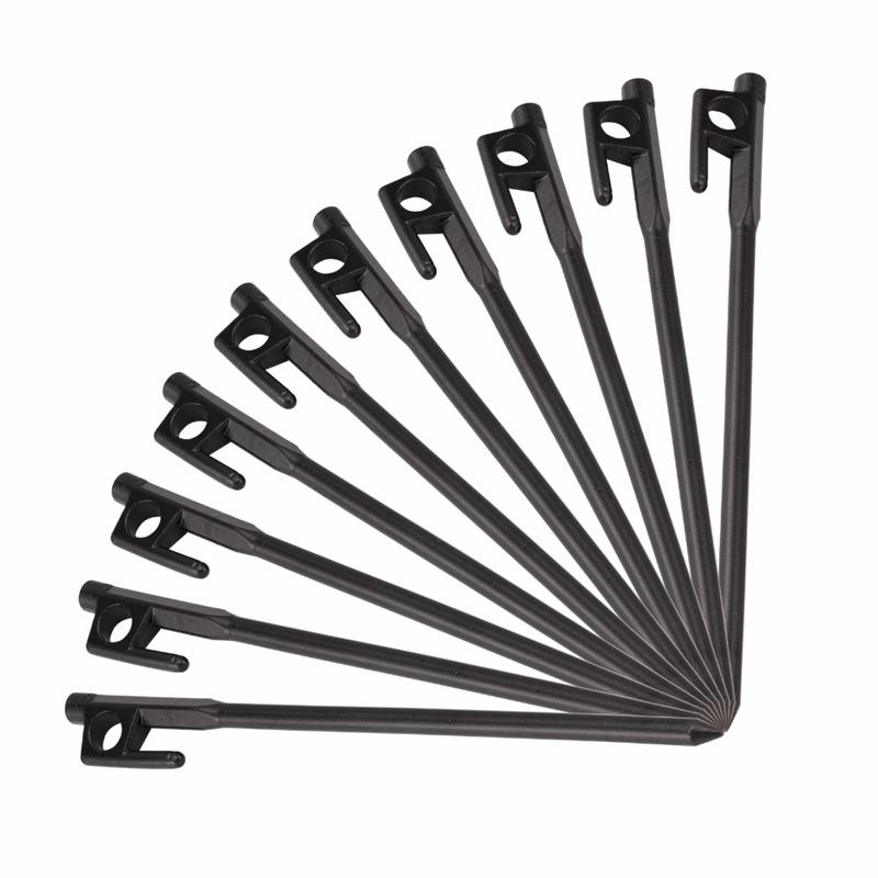 HOT 10Pcs Cast Iron Nail 20Cm Outdoor Hiking Awning Canopy Tent Peg Metal Beach Snow Tent Pegs Stakes 20cm Cast Iron Nail Black
