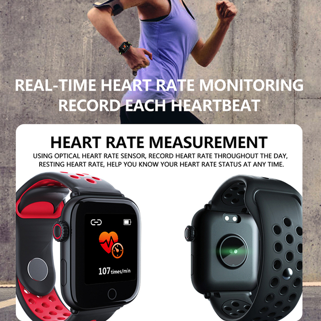 Smart Watch Men Women Heart Rate Monitor Blood Pressure IP68 Waterproof Message Reminder Phone Watch For Apple Android
