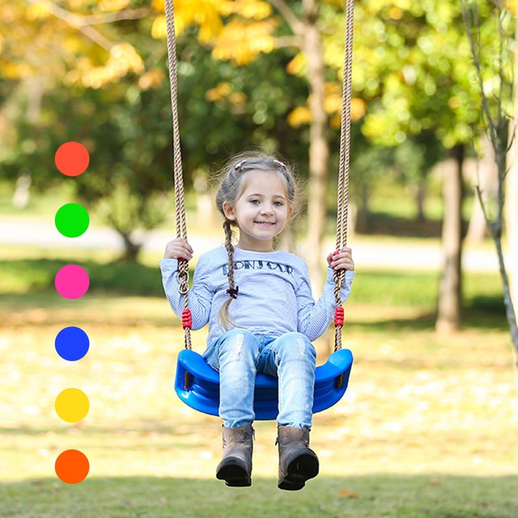 Outdoor Kids Swing Playground Garden Patio U-shaped Seat Plastic Swing Children Treehouse Toy