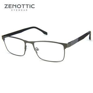 Image 3 - ZENOTTIC Alloy Progressive Prescription Glasses For Men Women Square Myopia Anti blue light Photochromic Optical Eyewear Frame