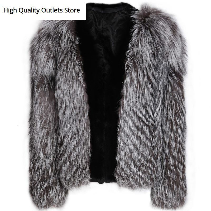 Natural Fur Jacket Women Real Fur Jacket Ladies Fox Fur Jacket Long Sleeve