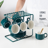 Ceramic Coffee Mug Tea Cups and Saucer Sets Luxury Coffee Cup Tumblr with Straw Cappuccino Cup Kubek Drinkware Bb50