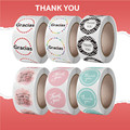 24 стиля Красочные спасибо тема испанский Спасибо наклейка «спасибо» 1
