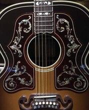 Guitarra completamente de madera maciza, envío gratis, calidad AAA, corte bob, Jumbo acústico