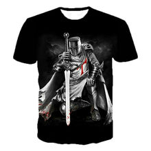 3D Men's Fashion T-shirts, Printed Casual Wear, Streetwear, Short Sleeves, Knight Prints, New Trends in 2021