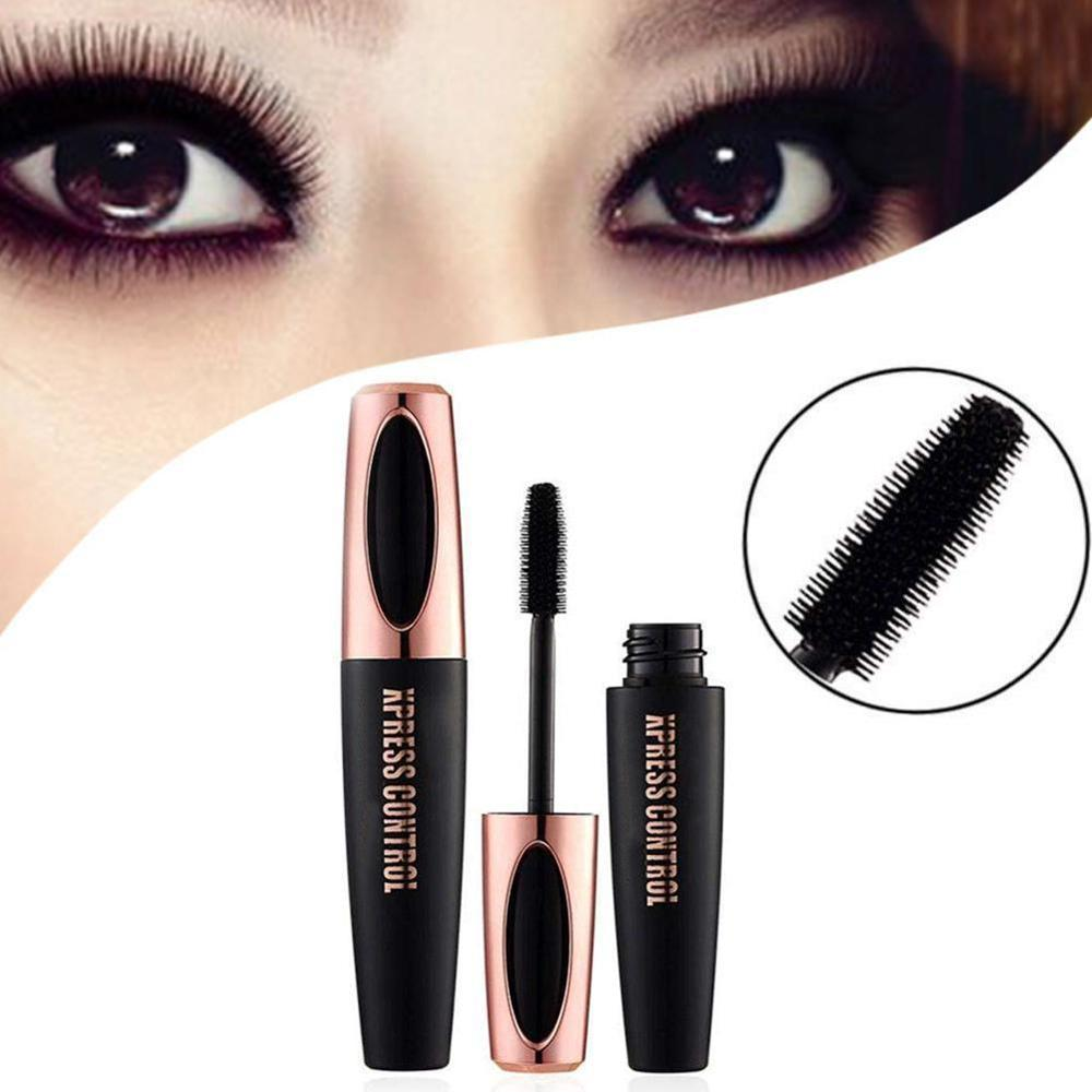 New 4D Silk Fiber Lash Mascara Waterproof Mascara For Eyelash Extension Black Thick Lengthening Eye Lashes to thick curling image