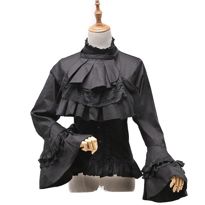Red RoosaRosee дизайнерская Осенняя женская элегантная белая кружевная рубашка со стоячим воротником вышивка аппликация длинный рукав фонарик б... - 4