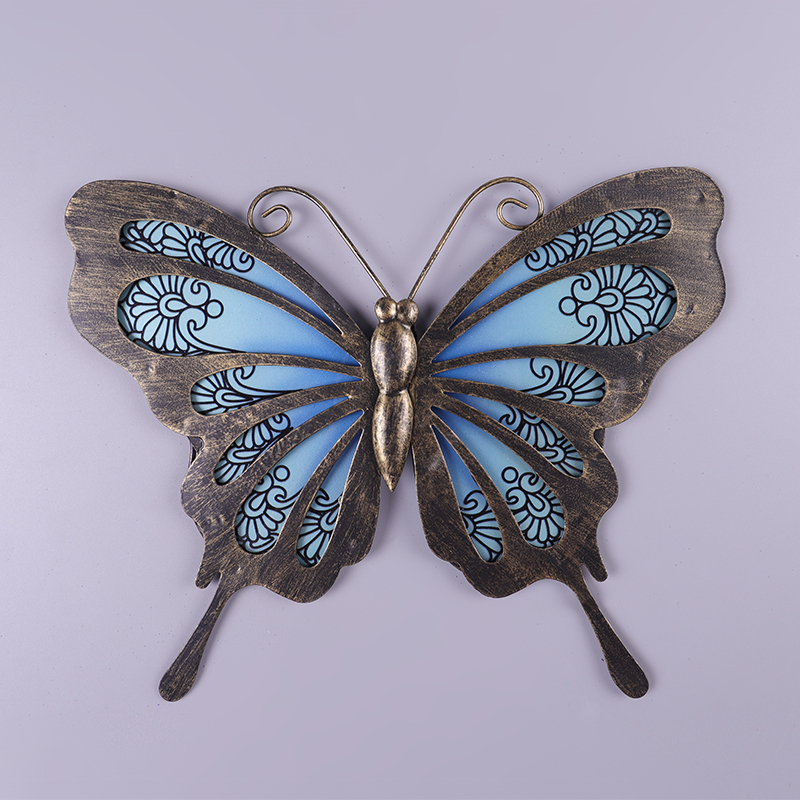 Garden Butterfly of Wall Artwork for Home and Outdoor Decorations Statues Miniatures Sculptures 3