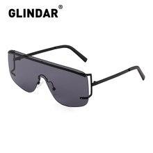 Women Men Shield Sunglasses Oversized Lens Rimless Sun Glass