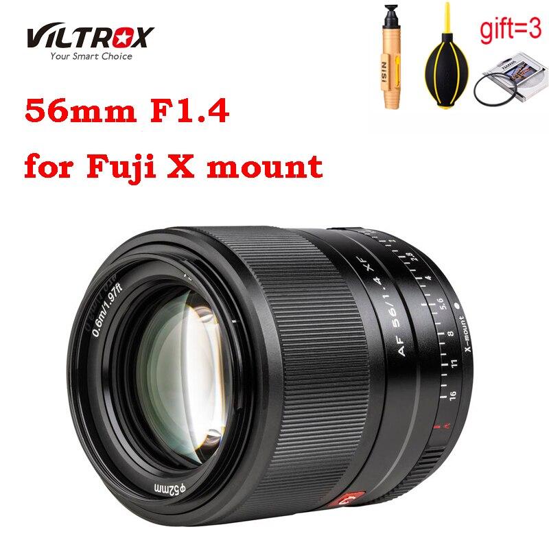 Viltrox 56 мм F1.4 для ЖК-дисплея с подсветкой Fujifilm X-mount объектив камеры XF фиксированным фокусным расстоянием большой апертурой Автофокус портрет ...