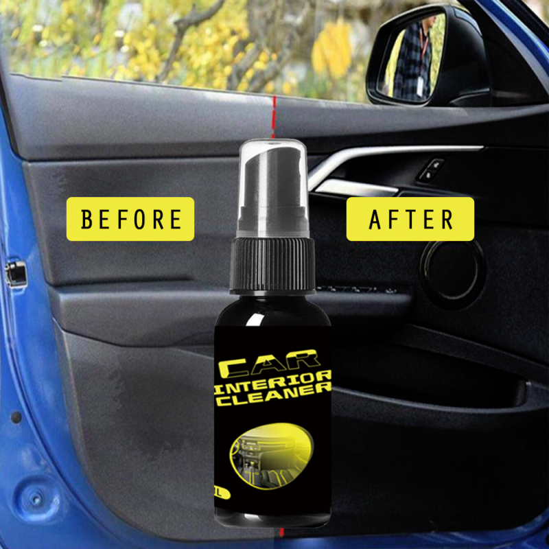 30ml Auto Car Wash Car Seat Sofa Cleaner Maintenance Interior Cleaning Leather Plastic Foam Agent  Metal Cleaner Tools TSLM1