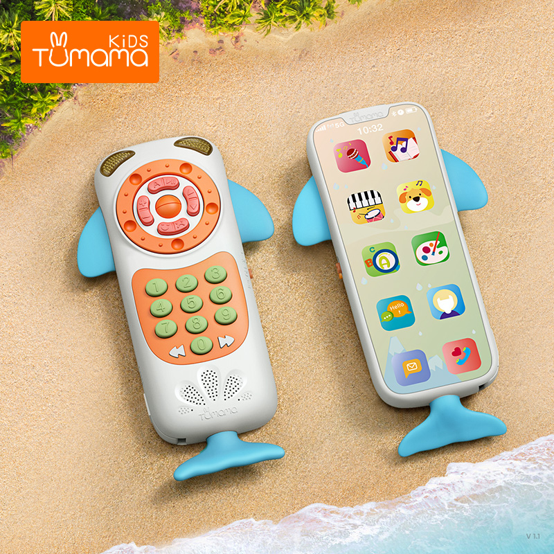 Upgraded  Baby Phone Toy Mobile Phone For Kids Telephone Toy Early Educational Mobile Toy Chinese/English Learning Toys Musical