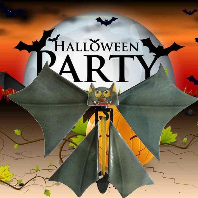 Sihirli uçan yarasa çarpıntı kart Prank uçan kağıt yarasalar partiler dekorasyon oyuncak sıkmak hediye kartı komik cadılar bayramı terör J2E5