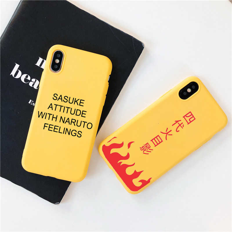Sasuke Naruto Ponsel Case untuk iPhone 11 X XS Max XR 7 8 6 6 S PLUS Soft Silicone Cover Coque kartun Anime