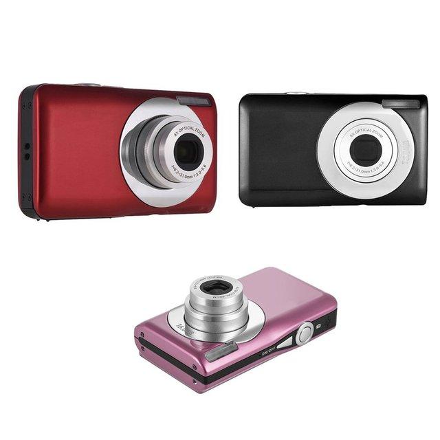 8x optical zoom Ultra-thin 18 MP Hd Digital Camera Children's Camera Video Camera Digital Students Cameras Birthday Best Gift