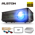 Alston M5 M5W Full Hd 1080P Projector 4K 6500 Lumen Cinema Proyector Beamer Android Wifi Bluetooth Hdmi Vga av Usb Met Gift