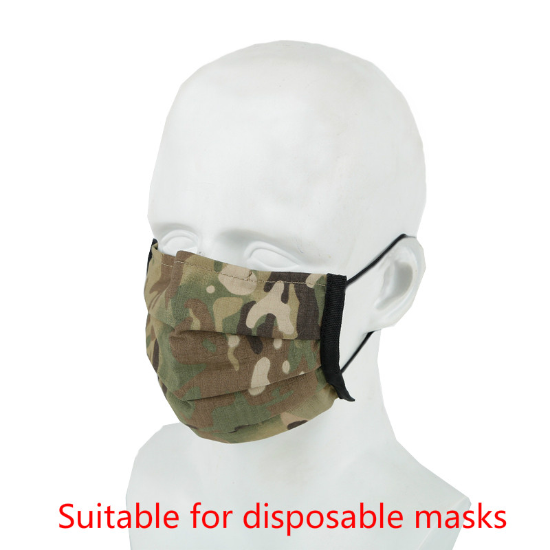 Outdoor Disposable Mask Cover Protective Men Women Milticam Washable Hiking Daily Life Tactical Disposable Masks Cover Nylon