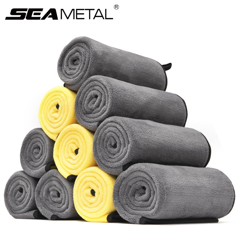 40x80cm Microfiber Towel Car Wash Accessories Super Absorbent Auto Care Drying Thick Towels Cleaning Cloth Towel Car Washing Rag(China)