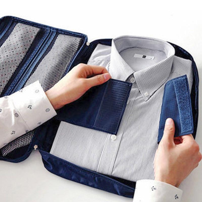 2020 Korean Style Second Generation Travel Business Trip Shirt Tops Storgage Bag Large Capacity MEN'S Shirt Organizing Bag