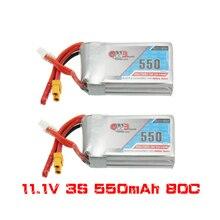 2 шт. Gaoneng GNB 11,1 В 550 мАч 80/160C 3S литий полимерная батарея JST XT30 для микро фотоэлектрических гоночных дронов