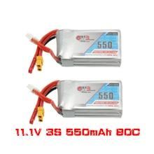 2PCS Gaoneng GNB 11.1V 550mAh 80/160C 3S Lipo סוללה JST XT30 עבור מיקרו Emax babyhawk FPV מירוץ Cine וופ BetaFPV Drone