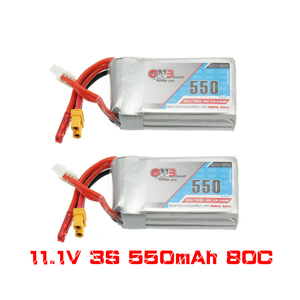 Image 1 - Gaoneng batterie GNB 2 pièces, 11.1V, 550mAh, 80/160C 3S, Lipo JST XT30, pour cinéma de course Micro Emax Babyhawk FPV, wharf BetaFPV Drone