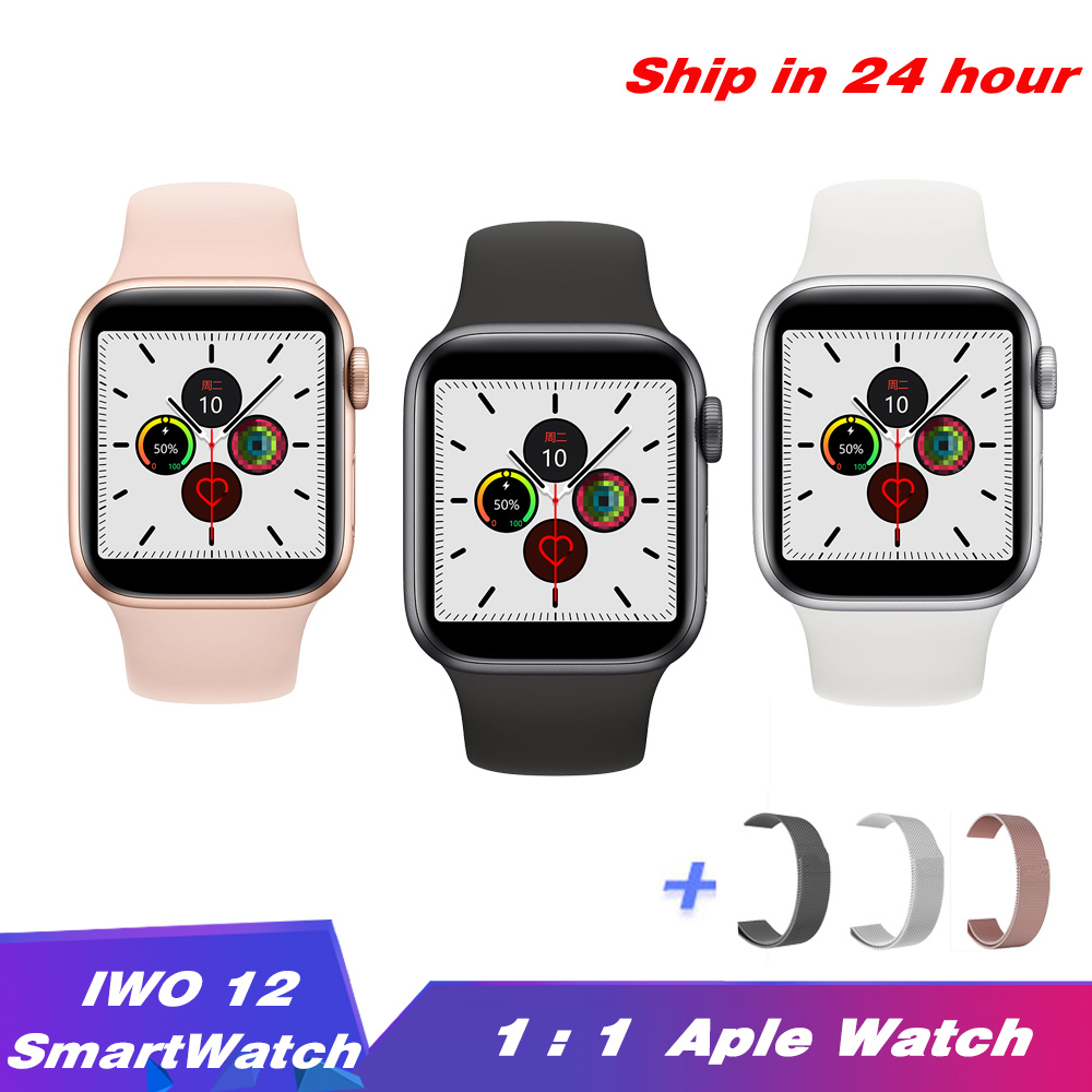 IWO <font><b>12</b></font> <font><b>Smart</b></font> <font><b>Watch</b></font> Series 5 1:1 Smartwatch 44/40mm Bluetooth Call ECG HeartRate Waterproof Band for Iphone Androd PK IWO 11 IWO8 image