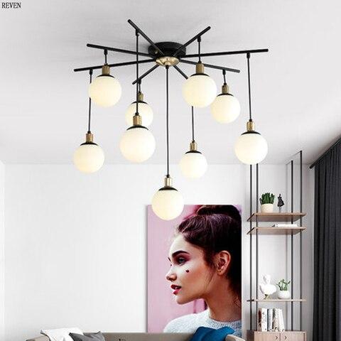 luzes feijao magico pos moderna lustre minimalista restaurante lustre criativo