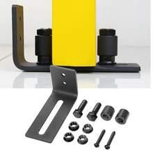 Novo guia de piso de aço carbono ajustável para a porta deslizante do celeiro encaixes da porta deslizante mecanismo pista deslizante trilhos schuifdeur
