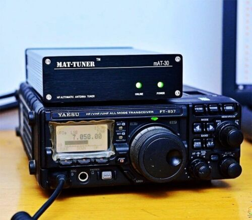 Latest Version MAT-30 120W HF Automatic Auto-tuner AUTO TUNER Automatic Antenna Tuner For Yeasu Ham Radio