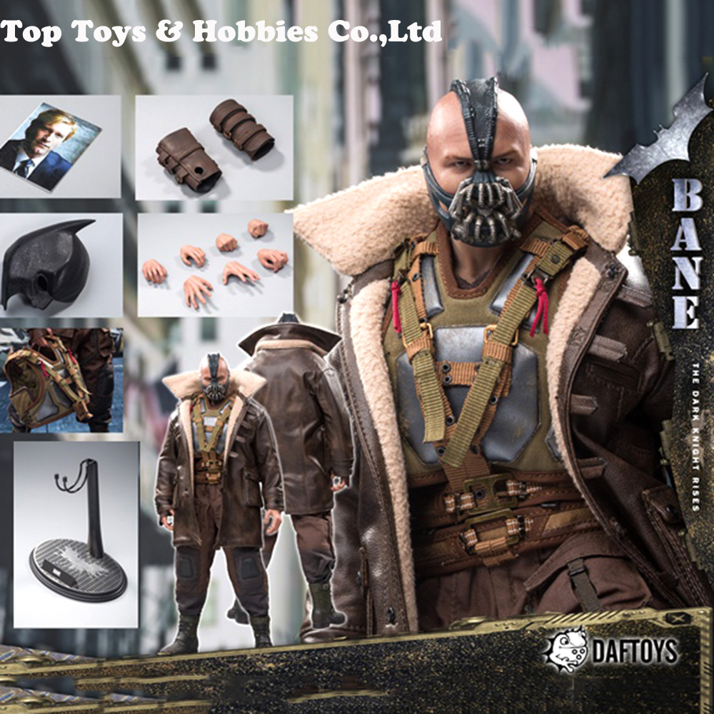 1/6 Batman Dark Knight Bane Head Clothing Set For M34 M35 Super Strong Male Body For Collection